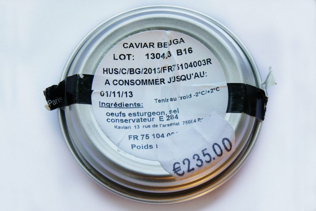 Farmed Beluga Caviar Tin  ©  WWF-David Prokop