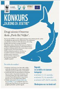 "plakat za konkurs za Dan Dunava 203x300 - Children's contest ""Together for Sturgeons"" in Serbia"